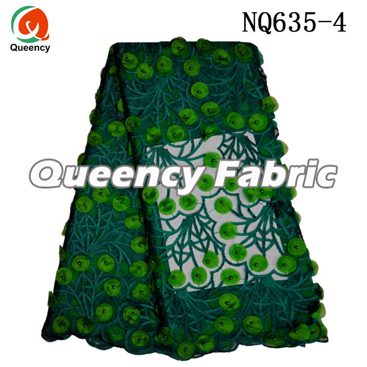Embroidered Net Lace Fabric