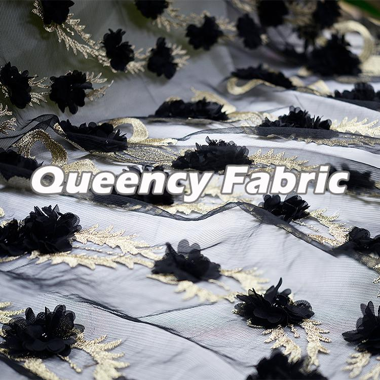 3D Flower French Lace