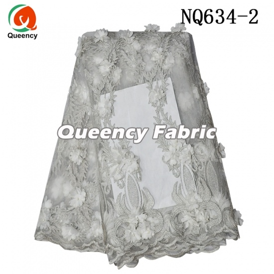 African Tulle Embroidery 3D Lace